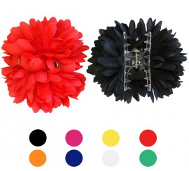 Flor Dalia con Pinza para Flamencas y Chulapas en varios colores