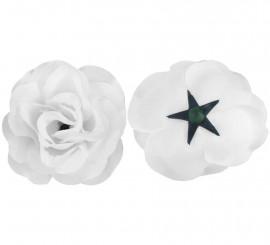 Flor Rosa Blanca para Flamencas y Chulapas
