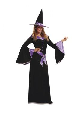 Disfraz de Bruja Morada para mujeres varias tallas para Halloween