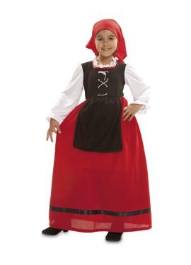 Disfraz de Aldeana o Pastora para Niña