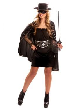 Disfraz de Heroína Enmascarada para Mujer talla M-L