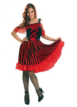Disfraz de Bailarina de Can Can para Mujer