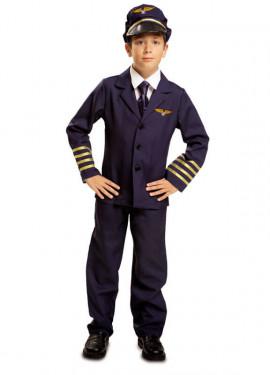 Disfraz Piloto de Vuelo Comercial para Niño