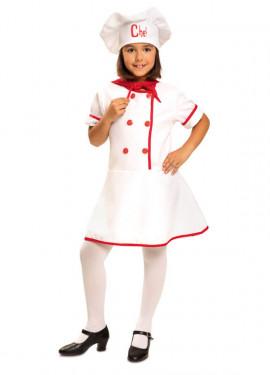 Disfraz de Cocinera Chef para Niña