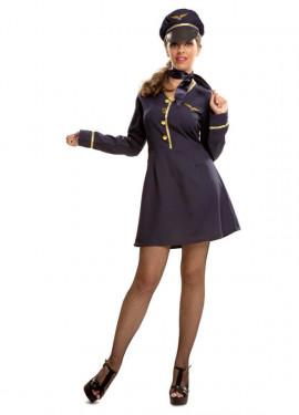 Déguisement Hôtesse de l'Air pour femme taille M-L
