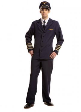 Déguisement de Pilote de Ligne pour homme taille M-L