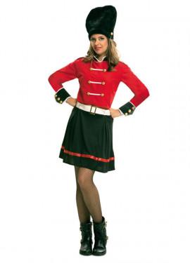 Disfraz de Guardia Real Inglesa para Mujer talla M-L