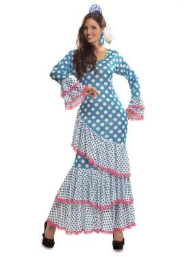 Déguisement de Sévillane Bleu pour femme plusieurs tailles