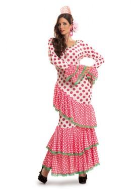Disfraz de Flamenca Rosa para Mujer