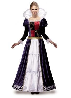 Déguisement de Reine Médiévale de Luxe pour femme taille M-L