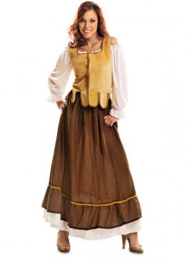 Déguisement Aubergiste Médiévale pour femme taille M-L