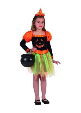 Disfraz de Bruja Calabaza para niñas