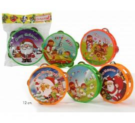 Pandereta de plástico de 12 cms. para Navidad