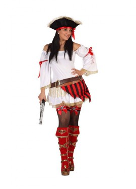 Disfraz de Pirata sexy para mujer talla M-L