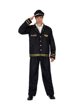 Disfraz de Piloto de Vuelo para hombre talla M-L