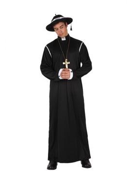 Disfraz barato de Sacerdote para hombre