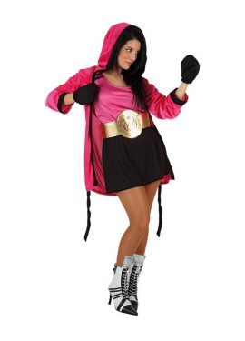 Disfraz de Boxeadora para mujer talla M-L