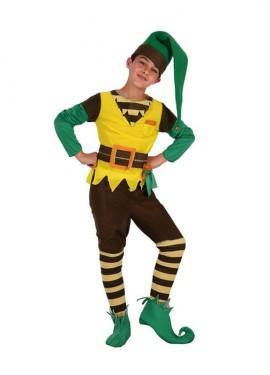 Disfraz de Duende Verde para niños