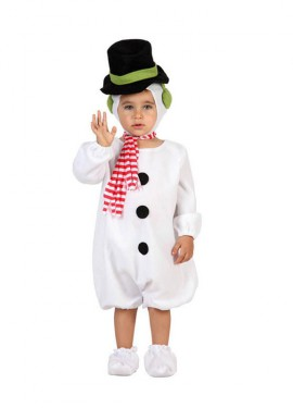 Disfraz Muñeco de Nieve para bebés de 6-12 meses