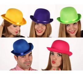 Sombrero Bombín Fluorescente 5 colores surtidos
