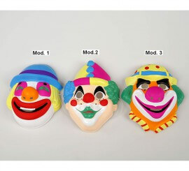 Careta de Payaso Infantil de PVC 3 modelos