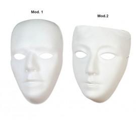 Máscara de Teatro blanca de PVC