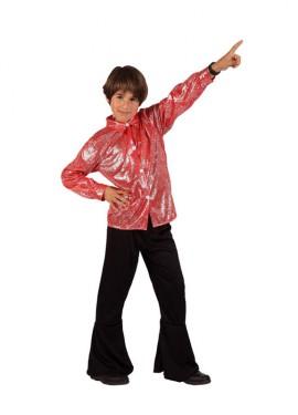 Disfraz de Disco Man Brillo rojo de niño