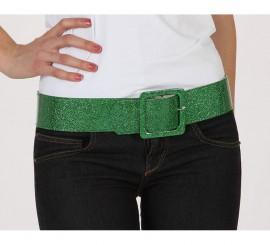 Cinturón o Correa brillante de color verde