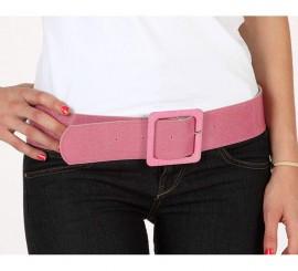 Cinturón o Correa brillante de color rosa