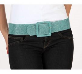 Cinturón o Correa brillante de color azul
