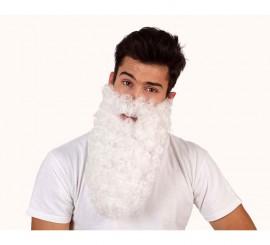 Barba de Rey Mago blanca larga rizada