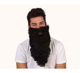 Barba de Rey negra larga rizada