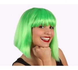 Perruque Verte Mi-Long avec frange