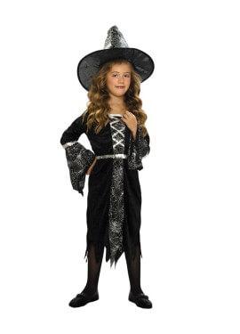 Disfraz de Brujita con arañas 5-6 años Halloween