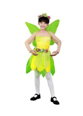Disfraz de Hada verde 7-9 años para niña