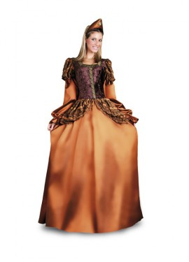 Disfraz de Princesa Medieval Dorada para mujer M-L