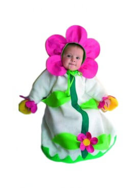 Saquito Flor bebé de 3 a 6 meses
