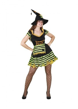 Disfraz de Bruja para mujer talla std.