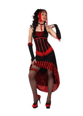 Disfraz Cabaretera elegante para mujer