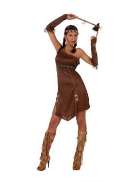 Disfraz de India marrón para mujeres