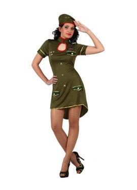 Disfraz de Chica Militar de alto mando Mujer