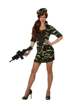 Disfraz Militar de Camuflaje para mujer