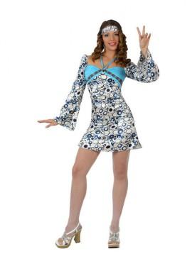Disfraz de Chica Hippie de la Disco para mujer