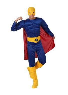 Disfraz de Héroe Musculoso azul hombre