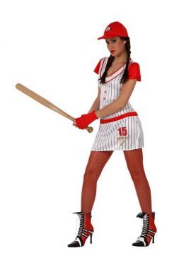 Disfraz Jugadora de Beisbol para mujer talla M-L