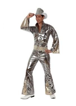 Disfraz Chico de la Disco plata hombre