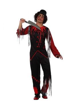 Disfraz de Payaso Sangriento para hombre talla M-L