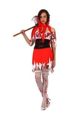 Déguisement de Chaperon Sanguinaire pour femme Halloween plusieurs tailles
