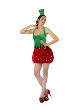 Disfraz de Chica Fresa para mujer talla M-L