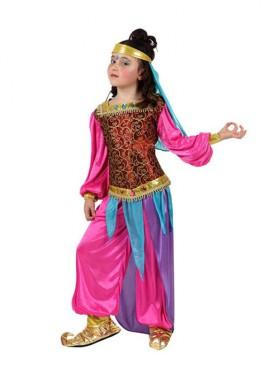 Disfraz de Bailarina Árabe rosa para niñas